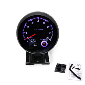"Led 3 '' 3/4 ""Racing Car Meter Tacómetro 0-8000 Rpm Gauge con luz de cambio"